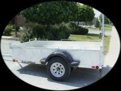 "Excalibur 5 X 8 Utility trailer with 3500lb 4"" drop axle - galvanized or painted"